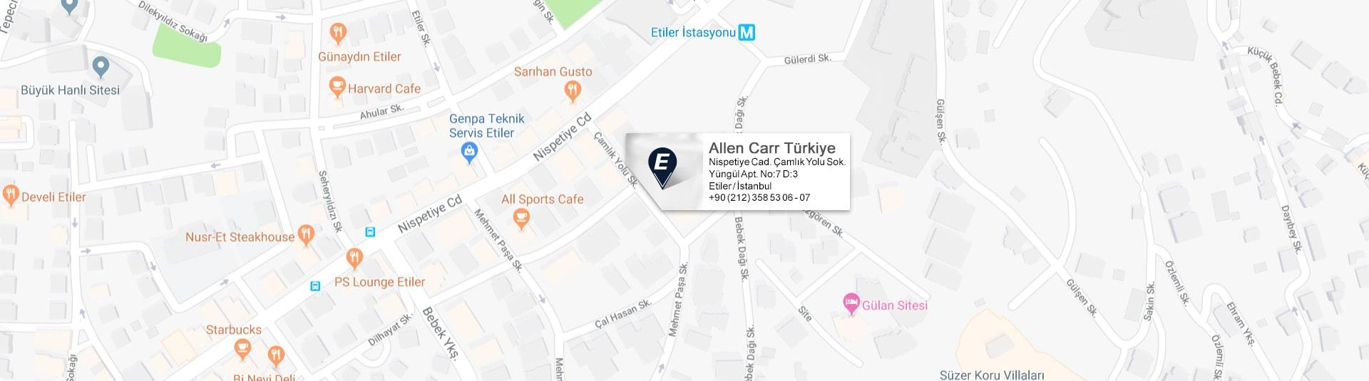 Allen Carr Türkiye Google Map